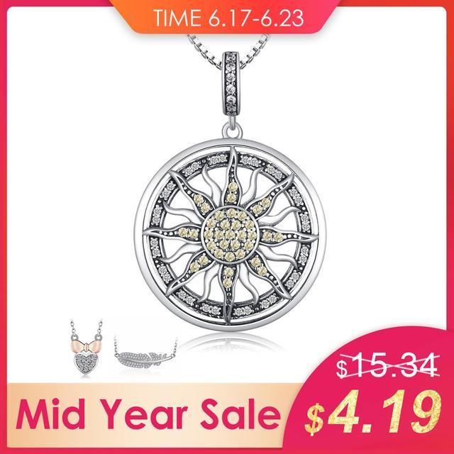 JewelryPalace Thiên Tôn Nữ Bạc 925 Đính Đá Cubic Zirconia Charm Dây Chuyền Nữ Trang Sức Thời Trang Không Xích