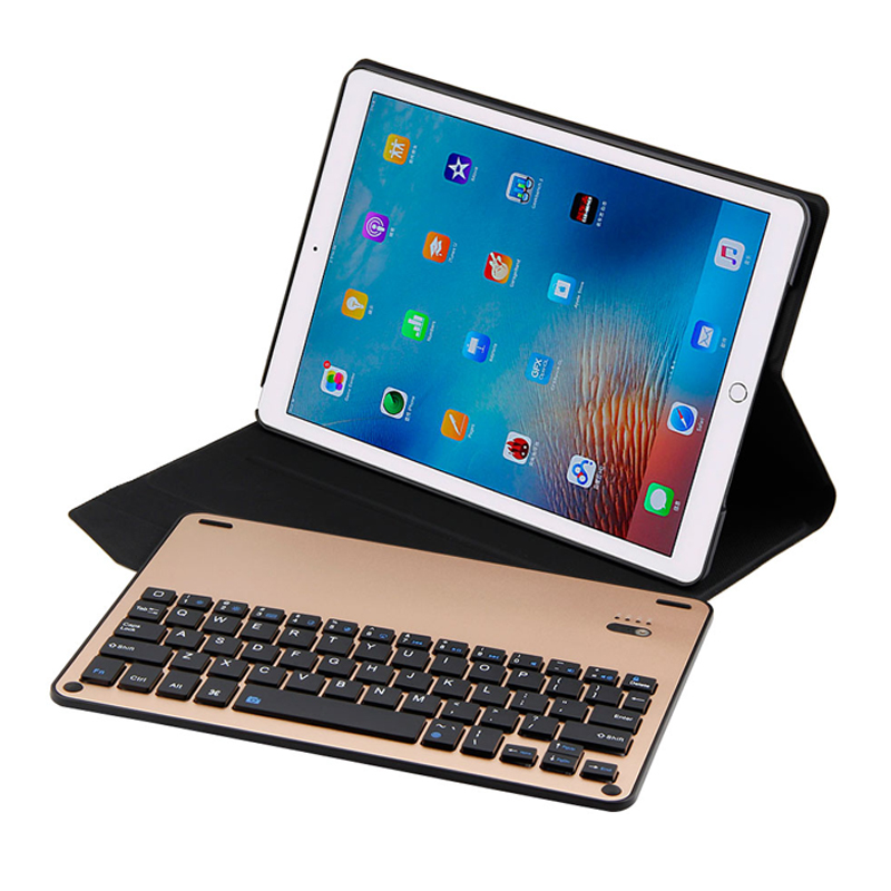 Slim Aluminum Coque For new iPad Pro 10.5 2017 Keyboard Case Removeable Wireless Bluetooth Keyboard Case For iPad Pro 10.5 Cover 2017 new leather case cover beautiful gift new 1pc for ipad pro 12 9inch ultra aluminum bluetooth keyboard with pu kxl0421