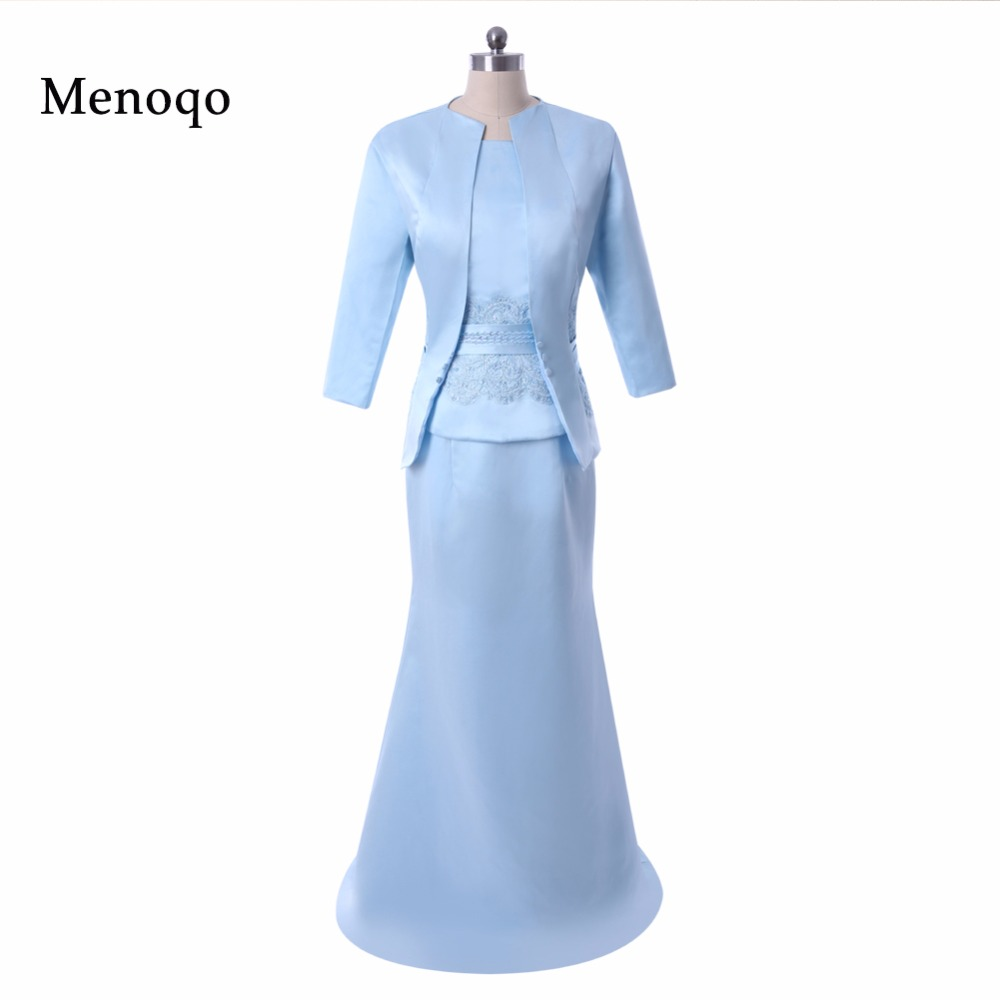 PRD-M50 Real Sample Exquisite Mermaid Floor length Vestido de madrinha 2019 mother of the bride dresses with jacket