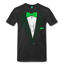 2017 informal widespread St Patrick's Day Tuxedo Men's Premium T-Shirt 100% cotton male tops tee scorching promote style O-Neck T Shirt