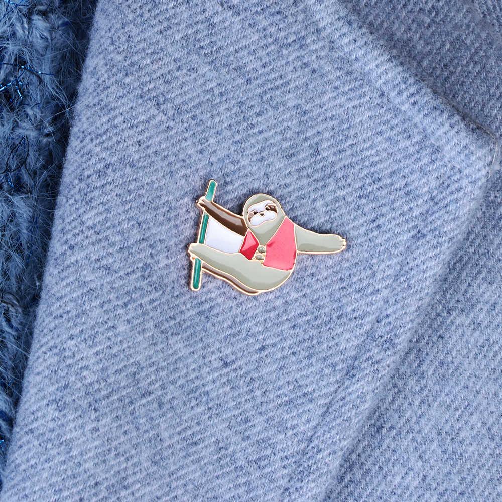 Snordic Ngộ Nghĩnh Alpaca Men Chân Bánh Mì Nướng Xương Rồng Cây Huy Hiệu Trâm Cài Ve Áo Pin Denim Áo Sơ Mi Jeans Túi Hoạt Hình Phụ Kiện Trang Sức