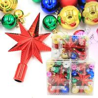 Christmas Supplies Suit New Glitter Snowflake Christmas Ornaments Xmas Tree Hanging Pendants Home Decoration For Party