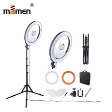Mamen Ring Light 55W 5500K 240 LED Photography Lighting Dimmable Camera Photo/Studio/Phone Lamp Tripod annular lamp