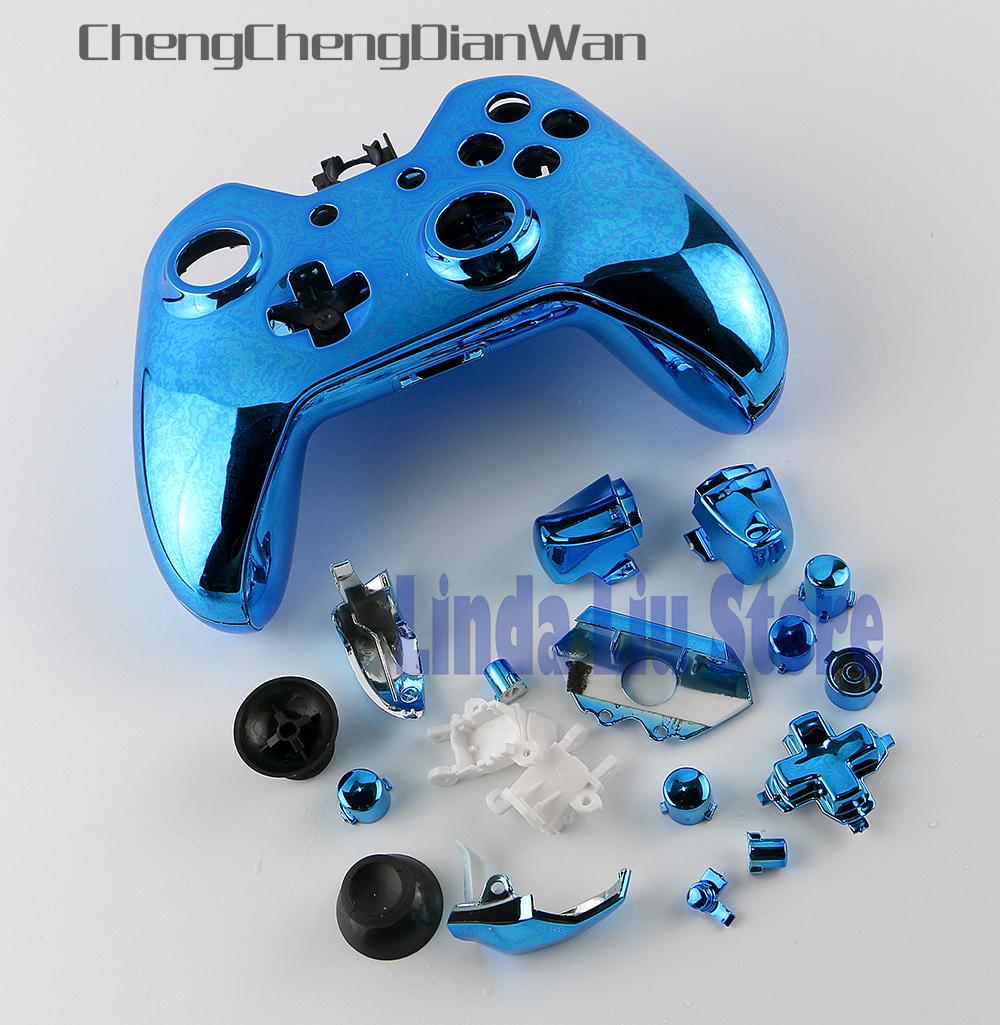 ChengChengDianWan Chrome Plated Full Housing Shell Case Kit Replacement Parts For Xbox One XBOXONE Wireless Controller