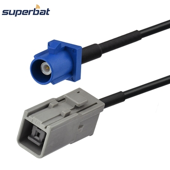 Superbat Fakra C Plug Straight to GT5-1S Jack Straight GPS Antenna Pigtail Cable RG174 for Satellite 15cm