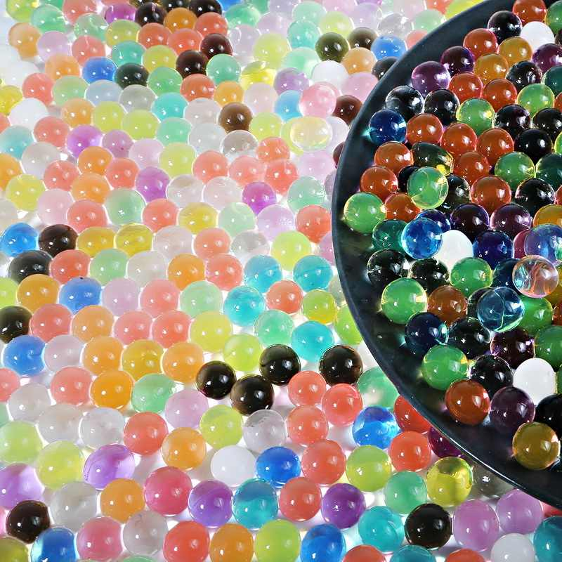 500pcs ที่มีสีสัน Pearl Gel Polymer Hydrogel คริสตัลโคลนลูกปัด Grow Magic Jelly แต่งงานตกแต่ง Party Home