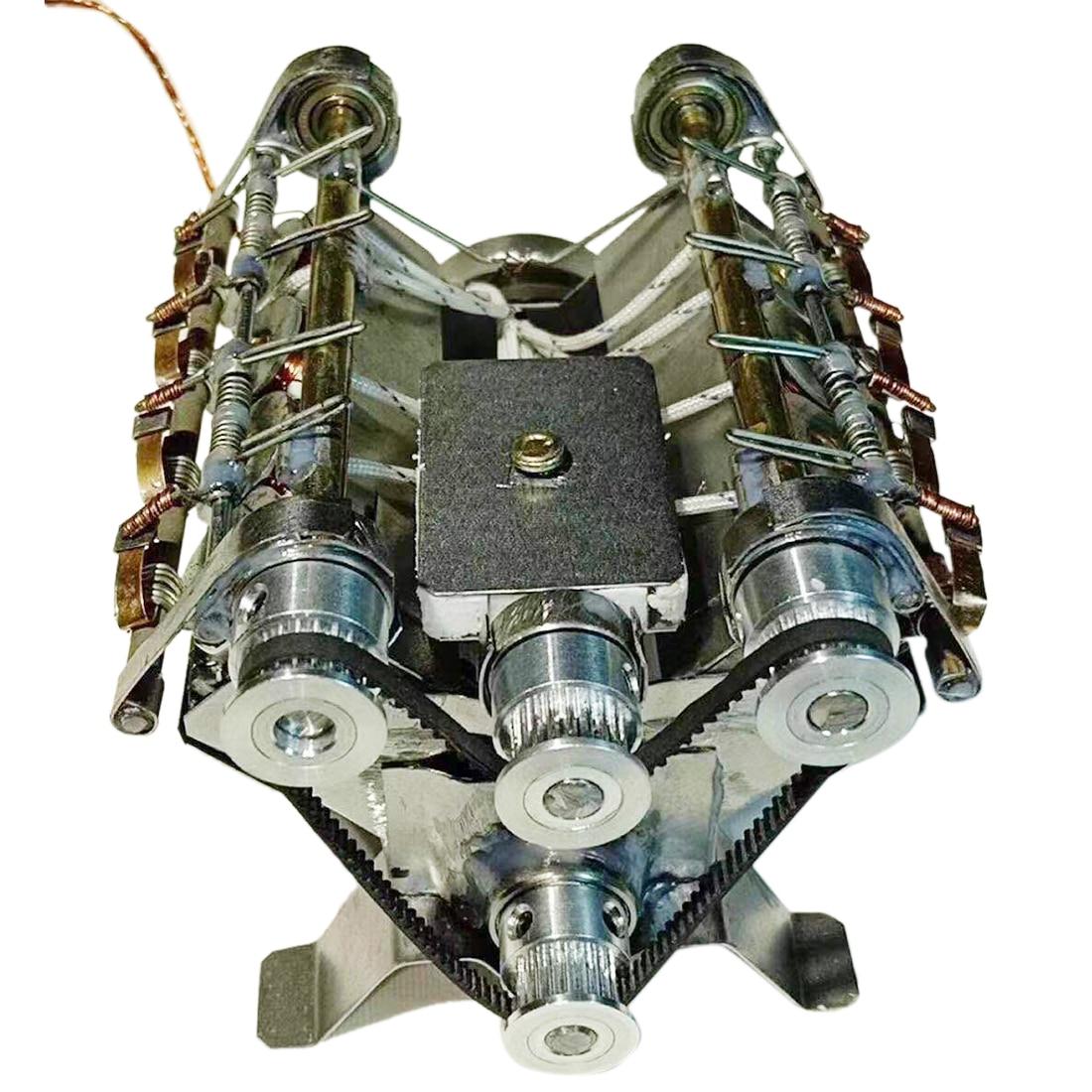 8 Cylinder shape V8 High Speed Engine Model Electromagnetic 8-cylinder Car Engine Working Principle Stem Toy8 Cylinder shape V8 High Speed Engine Model Electromagnetic 8-cylinder Car Engine Working Principle Stem Toy