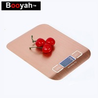 Booyah New Listing 10KG 1g Stainless Steel Portable Digital Kitchen Scales High Precision Rose Gold Electronic