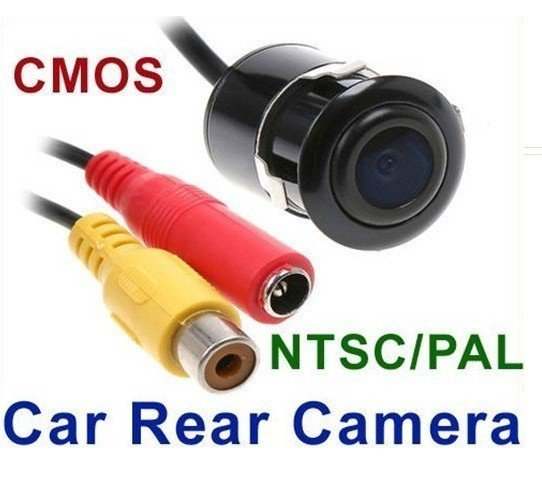 Mini Car Rear View Reverse Backup Parking Waterproof CMOS Camera Black,retailed package+free shipping