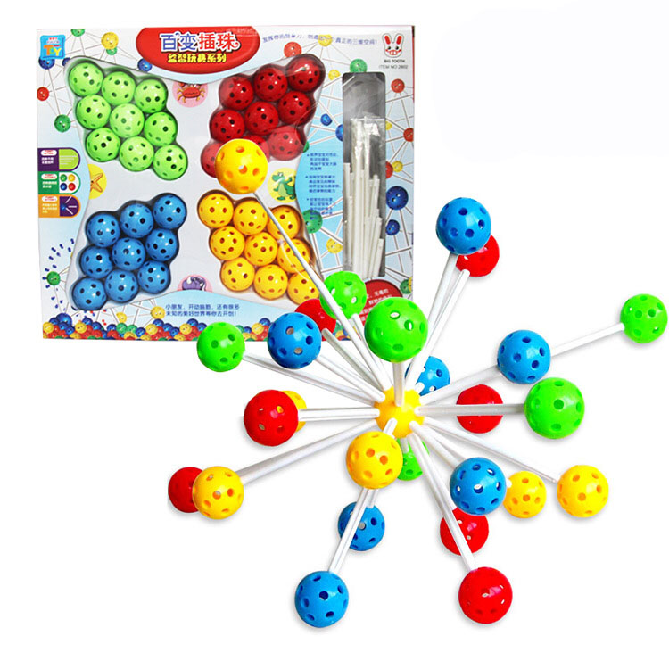 36 piezas haga clic en conectar enclavamiento bloques de construcción bola Set Montessori juegos juguete para niños imaginación