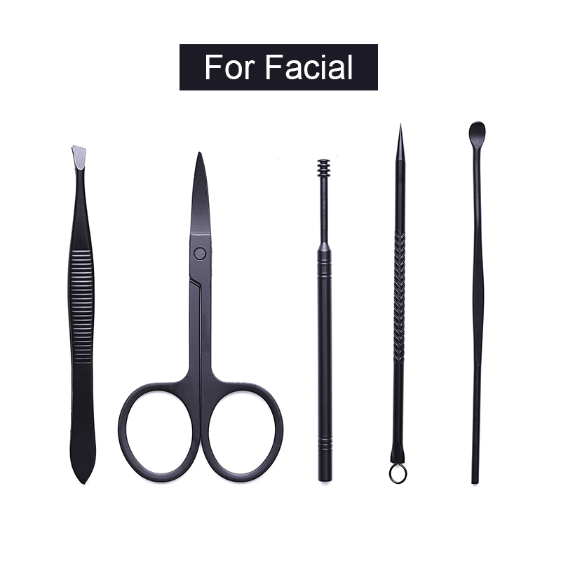 18Pcs set Nail File Kit 18 In 1 Professional Nail Clippers Kit Pedicure Nail Scissors Grooming Lot Tweezer Nail Care Tools in Sets Kits from Beauty Health