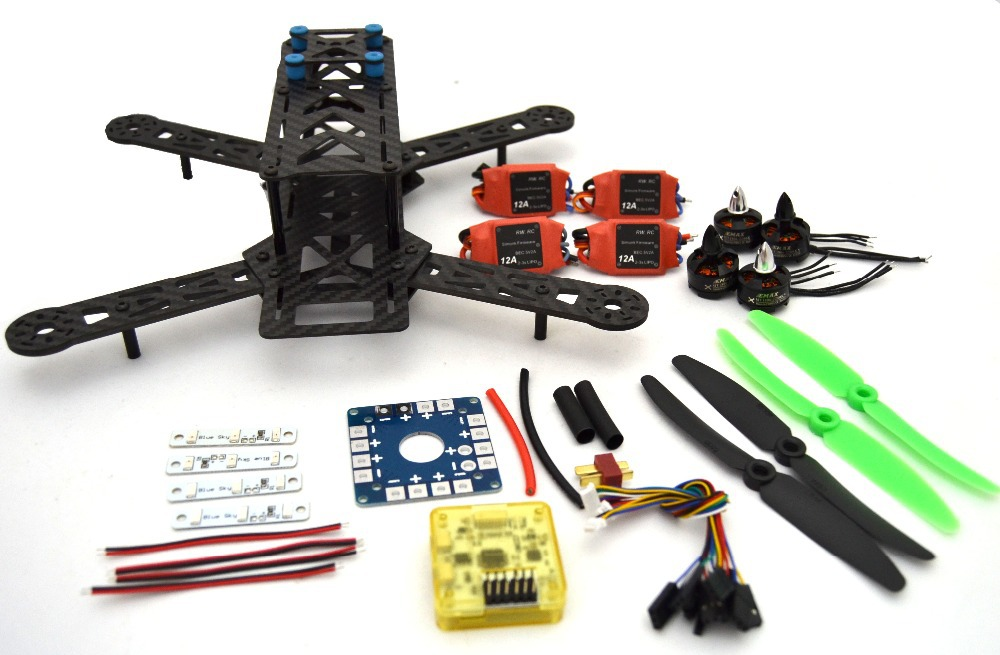 RC plane Carbon Fiber Mini QAV250 C250 280 Quadcopter 1806 Motor and simonk12A Esc Flight Control Prop carbon fiber zmr250 c250 quadcopter
