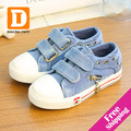 Fashion Denim Children Shoes New 2017 Patchwork Solid Canvas Shoes Zip & Lace Up Kids Shoes Boys & Girls Casual Sport Sneakers