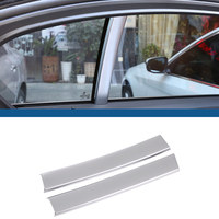 For BMW 5 Series G30 528li530li540li 2018 Car ABS Plastic Carbon Fiber Matt Silver Window C