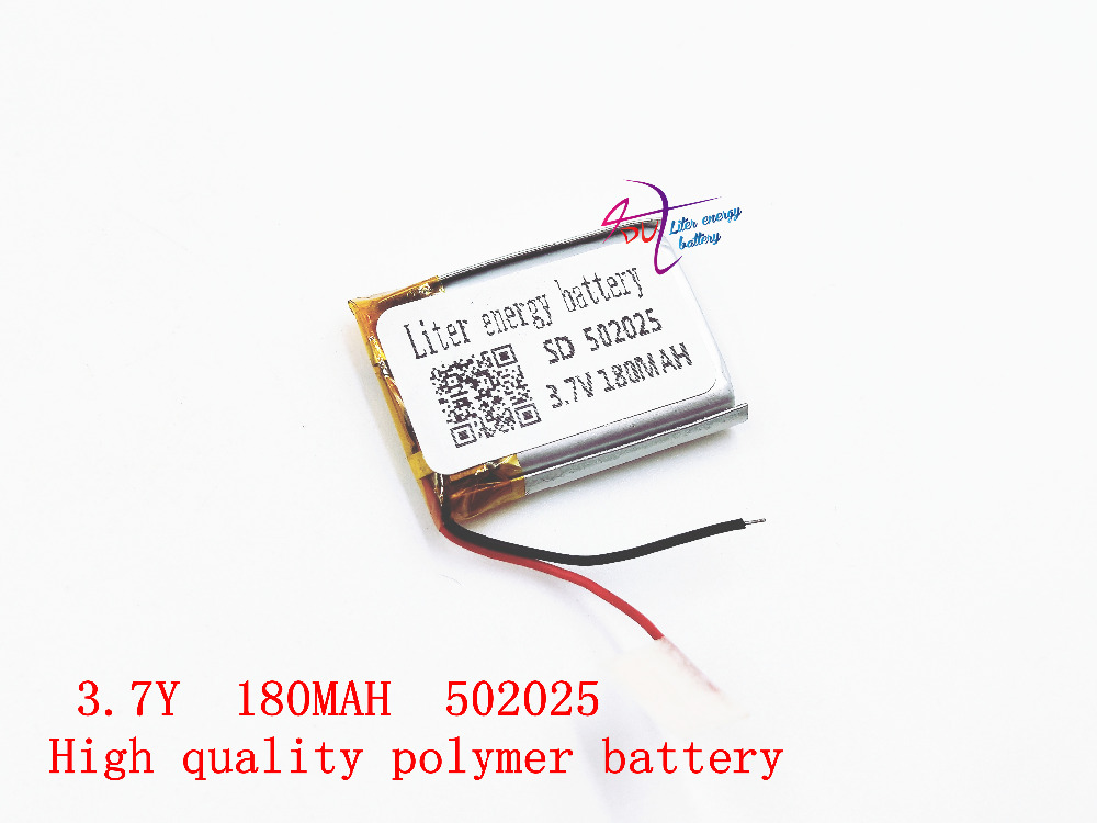 3.7V lithium polymer battery 052025 502025 180mah Liter energy battery MP3 MP4 MP5 liter energy battery 3 7v polymer lithium battery 401215 mp3 mp4 60mah bluetooth headset small toy sound