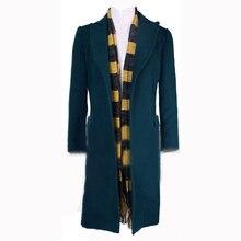 Фантастические звери и где Find Them Newt Scamande Тренч Косплэй костюм мужской костюм вечерние Блейзер зимнее пальто с шарфом