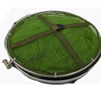 Hot Sell 3 Size Portable Fishing Creel Folding Retractable Fish Brailer Net Trap Fishing Tackle Fishing