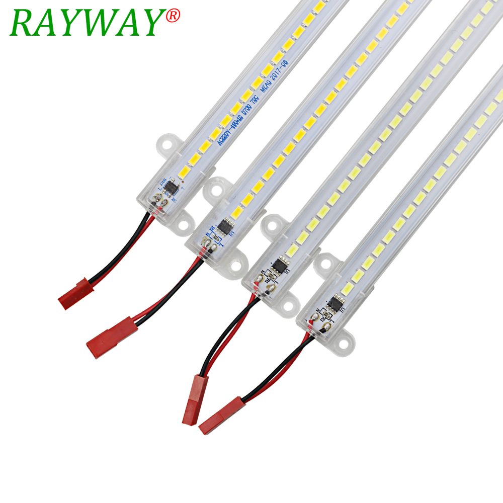 5630/5730 Dimmable LED Rigid Strip 220V 50CM 72LEDs High Brightness LED Fluorescerande Rör Transparent Led Bar Light Wtih EU-kontakt