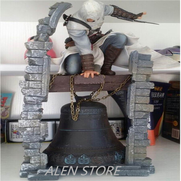 ALEN Assassins Creed Altair The Legendary Assassin Bell PVC Action Figure Resin Collection Model Doll Toy Gifts Cosplay neca 7 assassins creed altair ezio action figure pvc doll model collectible toy gift