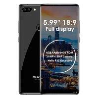 Original Oukitel MIX 2 5.99'' FHD 18:9 Screen 4G Mobile Phone Octa Core 6GB+64GB 21MP+13MP Camera Smartphone 4080mAh Fingerprint