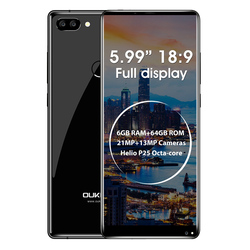 Original Oukitel MIX 2 5.99'' FHD 18:9 Screen 4G Mobile Phone Octa Core 6GB+64GB 21MP+13MP Camera Smartphone 4080mAh Fingerprint