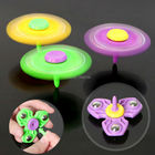 4 Color Triangle Gyro Finger Spinner Fidget with Support rod Plastic EDC Hand For Autism/ADHD Anxiety Stress Relief Focus Toys
