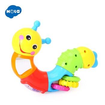HOLA 786B детские развивающие игрушки для детей погремушка милые игрушечные червяки вставка головоломка токарные Игрушки для маленьких пальце... >> HUILE TOYS official store