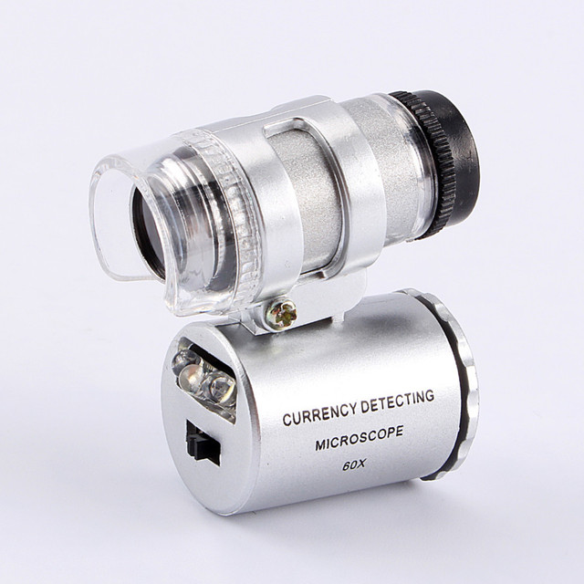 Microscope Loupe Jeweler Magnifier With LED Light 92TV Currency Detector Ferramentas Latest Fancy 60x Handheld Mini Pocket