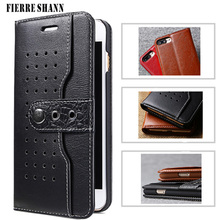 hot deal buy fierre shann western cowboy case for iphone 8 8 plus flip card slots button genuine leather wallet case cover for iphone 8 plus