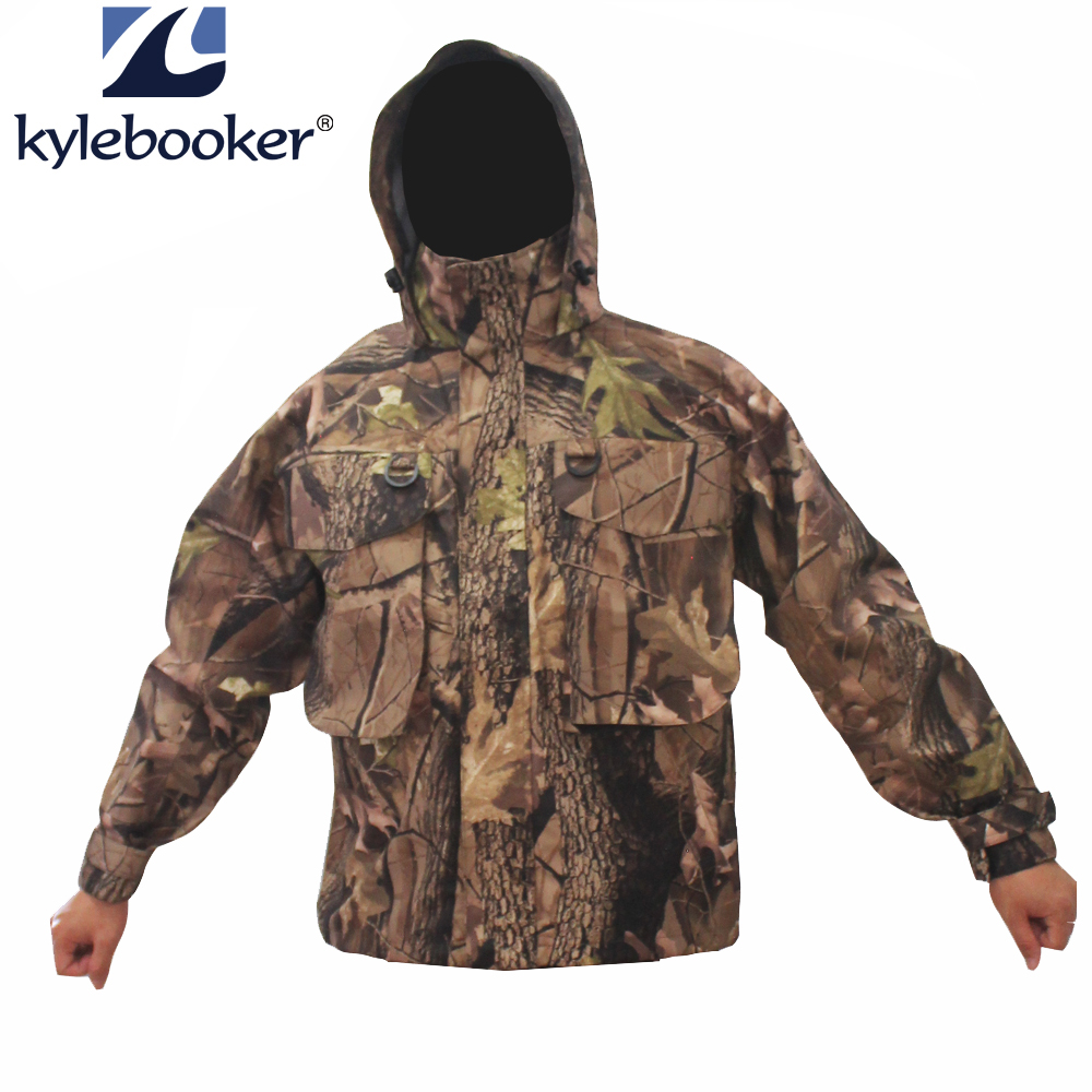 New Outdoor Camouflage Men's Waterproof Fly Fishing Wading Jacket Breathable Hunting Clothing Waders Jacket Fishing Clothes outdoor waterproof camo fly fishing hunting breathable waders wading jacket tactical sniper suit clothing fishing clothes
