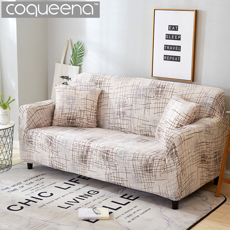 separation shoes ac0e6 0a4e0 Modern Striped Pattern Universal Sofa Covers Sectional Corner Couch  Slipcovers Furniture Protector for Armchairs Nordic Style