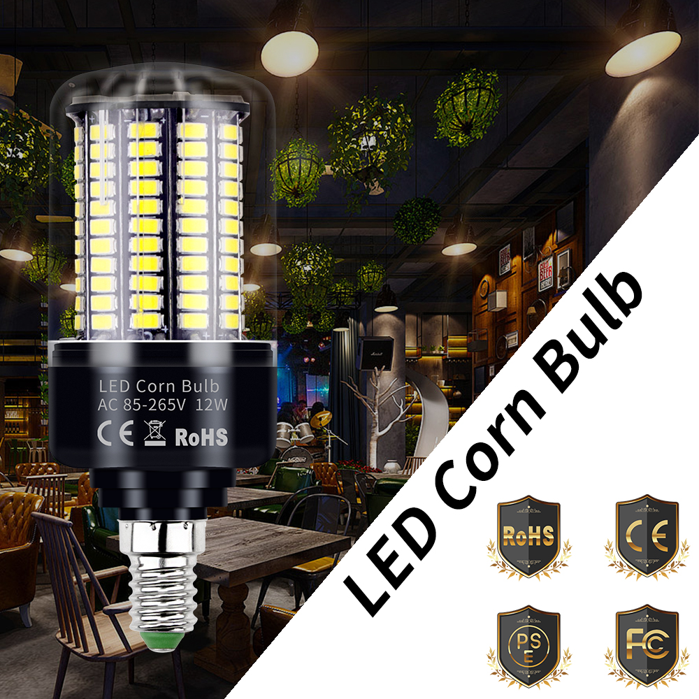 E27 Led Bulb Corn Lamp E14 Bombillas Led Light Bulb 3 5W 5W 7W 9W 12W 15W 20W Candle Lamp 220V Energy Saving High Power Light in LED Bulbs Tubes from Lights Lighting