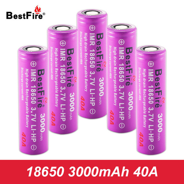 18650 Rechargeable Battery Li ion Vape Battery 3000mAh 40A for Eleaf iStick  Pico Mod iStick Pico 25 Vape Kit VS iJust S A050-in Rechargeable Batteries