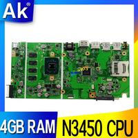 X541NA материнская плата для ASUS X541NA материнская плата для ноутбука X541N материнская плата тесты 100% OK N3450 процессор 4 ядра 4 Гб оперативная память