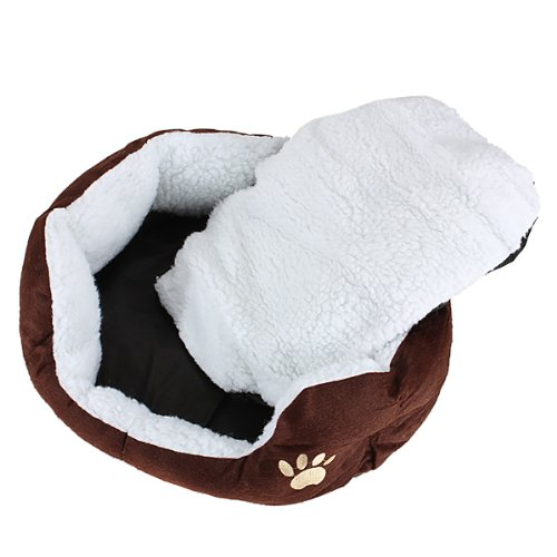 Meilleur vente Panier Corbeille Niche Coussin Maison Allumé amovible Pour Chien Chat Animaux Taille S 46*42*15 cm CAFÉ