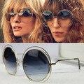Caliente Nuevo 2016 Ronda gafas de Sol de Las Mujeres Diseñador de la Marca gafas de Sol Retro Gafas de Sol gafas de Sol de Moda BiNFUL 114 gafas de Sol de Marca
