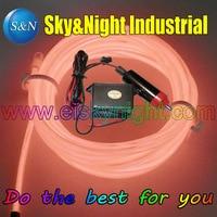 Orange 4M EL wire+12v Inverter +Cigar lighter /Set High Quality (3Set / Lot Only 29USD ) for Car decoration