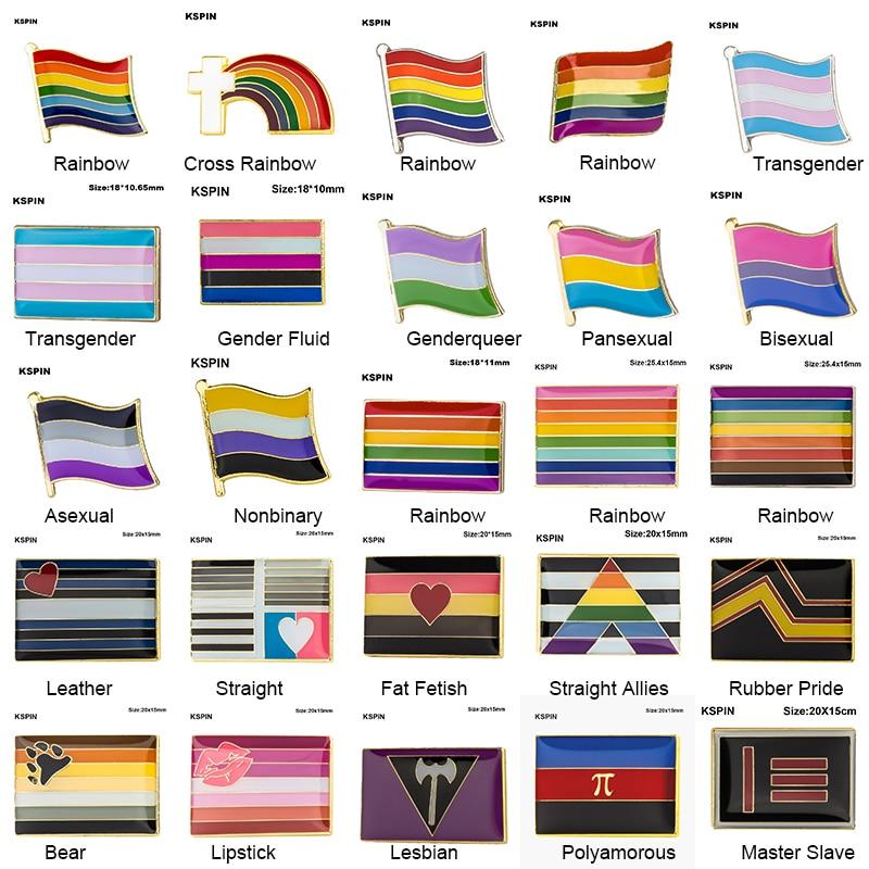 Брошь в форме ЛГБТ, ЛГБТ-флаг для лесбиянок