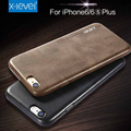 X-nivel de alta calidad de cuero retro del teléfono case para iphone 6 6 s case para iphone 6 plus 6 s plus de lujo back case cover