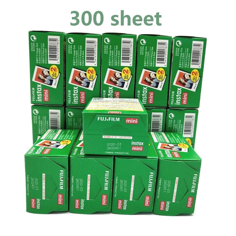Fujifilm Instax Mini 8 Film blanc bord papiers Photo pour Mini 9 7 s 90 25 55 partager SP-1 appareil Photo instantané 300 feuilles