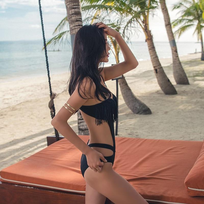 Frauen badeanzug einteiliges bademode mesh-cut-out body heißer Feste push-up verband bademode badeanzug