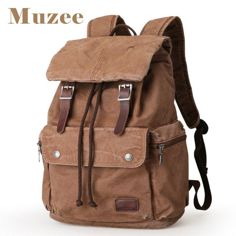 MUZEE جديد على ظهره قماش عالية قدرة الرجال على ظهره 15.6 بوصة حقيبة لابتوب Mochila أكياس دعوى نهاية الأسبوع-في حقائب الظهر من حقائب وأمتعة على  مجموعة 1