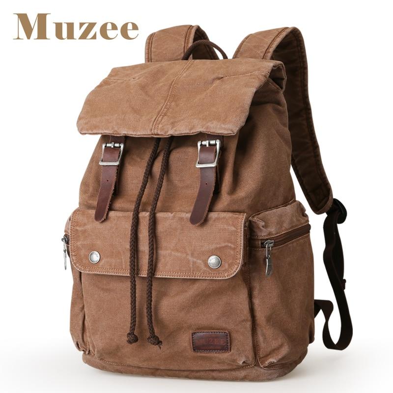 MUZEE nouveau sac à dos toile haute capacité hommes sac à dos 15.6 pouces pochette d'ordinateur Mochila costume week end sacs-in Sacs à dos from Baggages et sacs    1