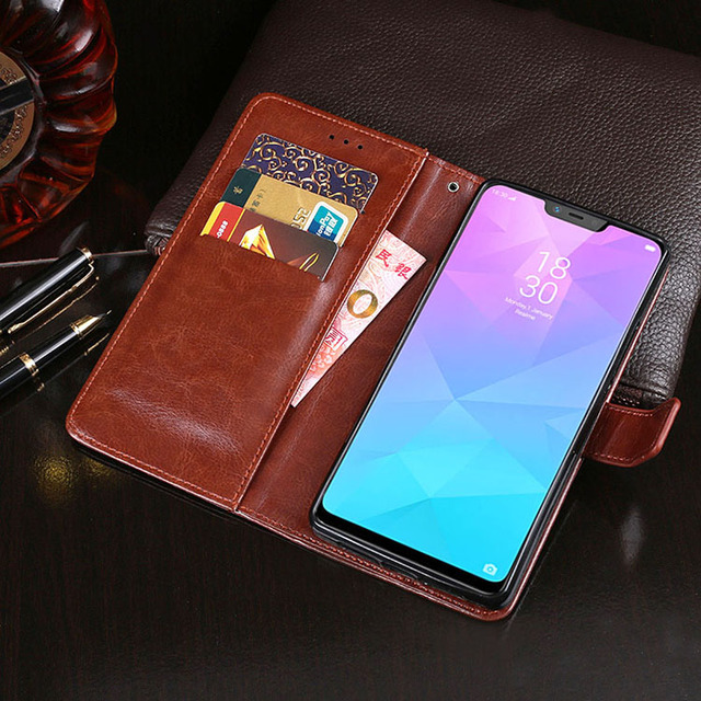 low priced 3eebe f4d14 US $3.35 20% OFF|For OPPO Realme 2 Pro Case OPPO Realme 2 PU Leather Phone  Cover Flip Wallet Cases For Coque Realme 2 Pro PMX1801 PMX1807 Cover-in ...