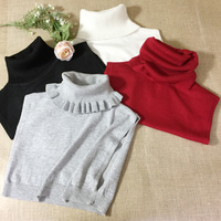 Thời trang Có Thể Tháo Rời Rhinestone vintage elegent Phi Tiêu áo len trang trí 2017 mùa thu mùa đông original len cao cổ/đống cổ áo
