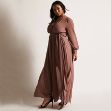 فستان سهره مقاس كبير طويل أنيق