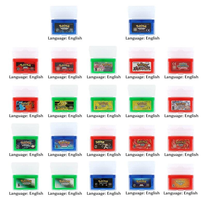32 Bit Video Game Cartridge Console Card Pokemonn Series 1 English Language