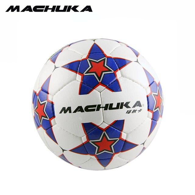 MACHUKA dos homens Padrão Oficial 5   Futebol Bolas de Futebol costuradas a  Mão de Couro 21c3210c8c80b