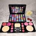 Profissional 49 cores da sombra de maquiagem cosméticos paleta Nu Nu shimmer matte sombra Blush lip gloss com escova kit