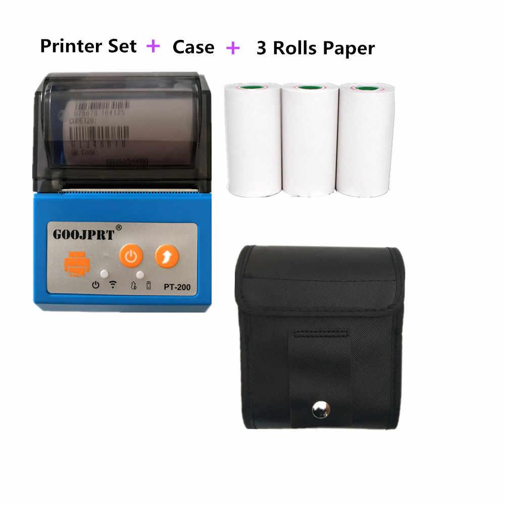 GOOJPRT 58 мм чернильный термопринтер супермаркет умный автоматический термопринтер Bluetooth 4,0 США ЕС штекер